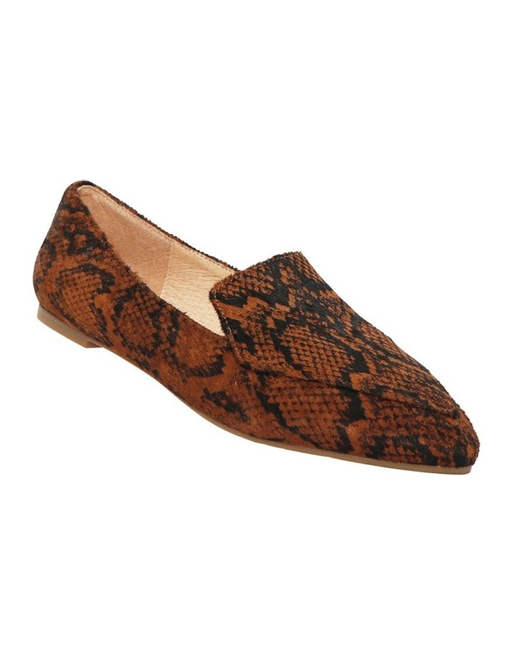 Marco Chocolate Snake Flat Shoes image 2