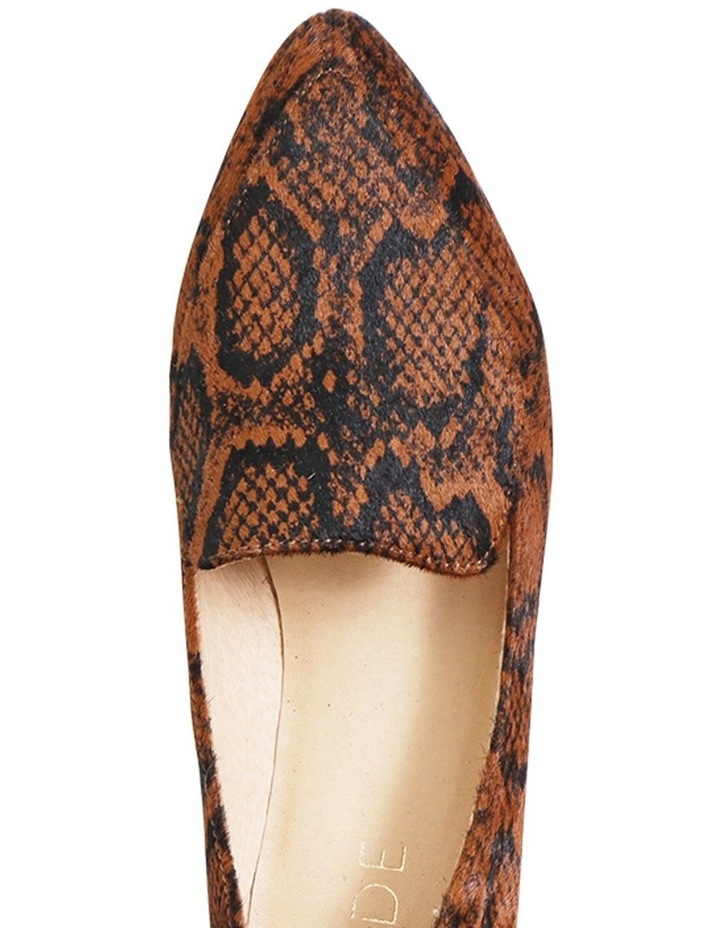 Marco Chocolate Snake Flat Shoes image 3