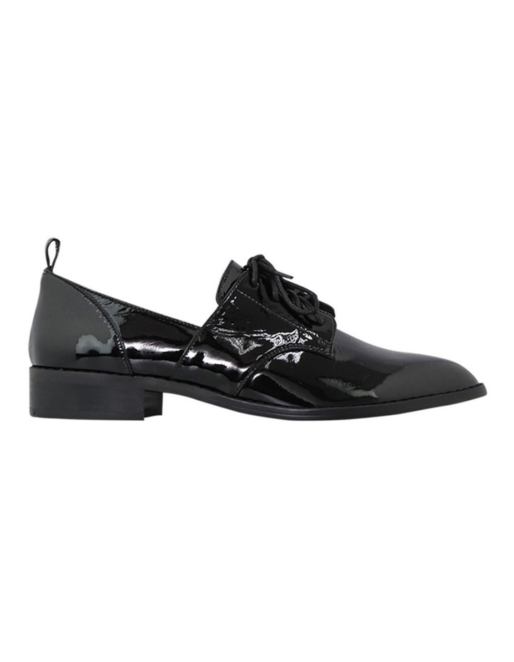 Marley Black Patent Leather Flat Shoes image 1