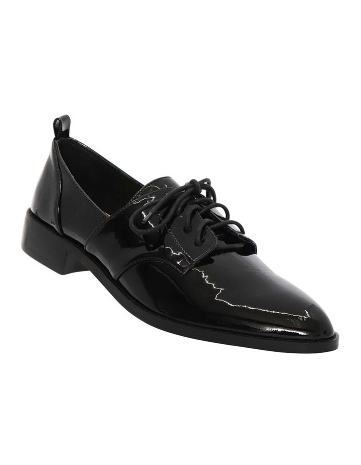 Marley Black Patent Leather Flat Shoes image 2