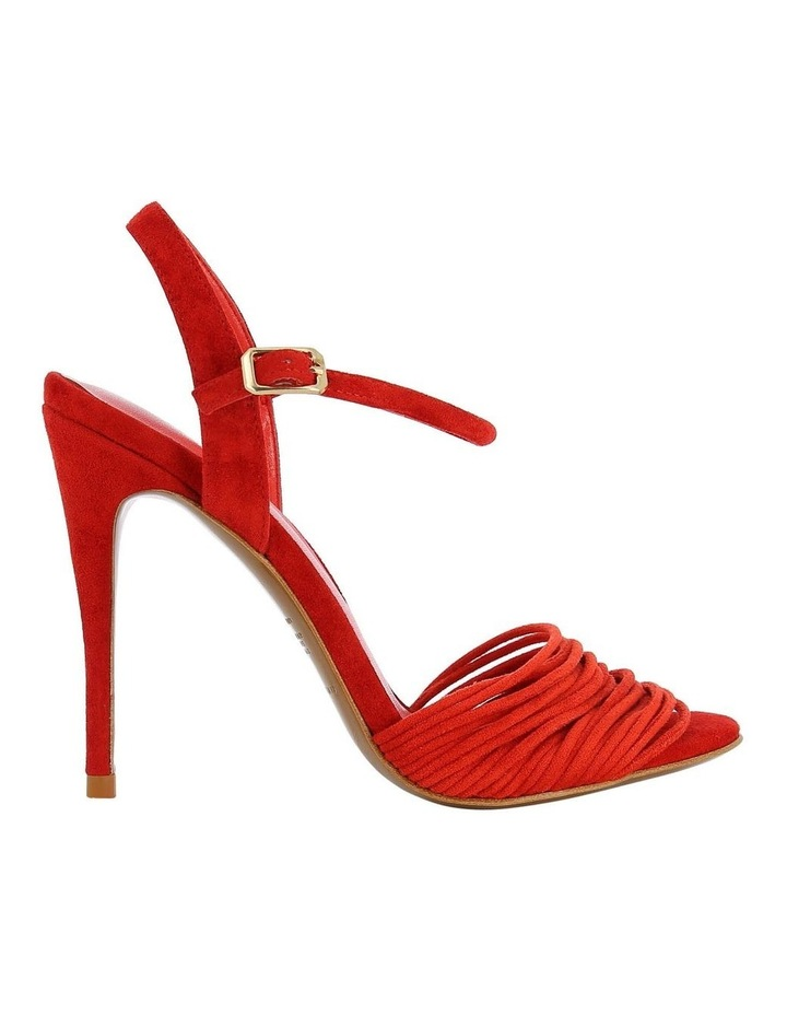 Mia Red Suede Sandal image 1