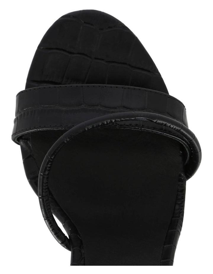 Annie Black Croc Sandal image 3