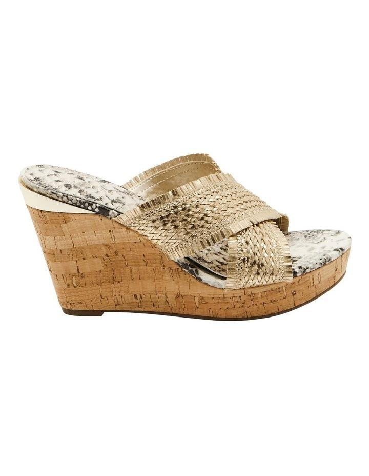 Bridle Gold Wedge Sandal image 1