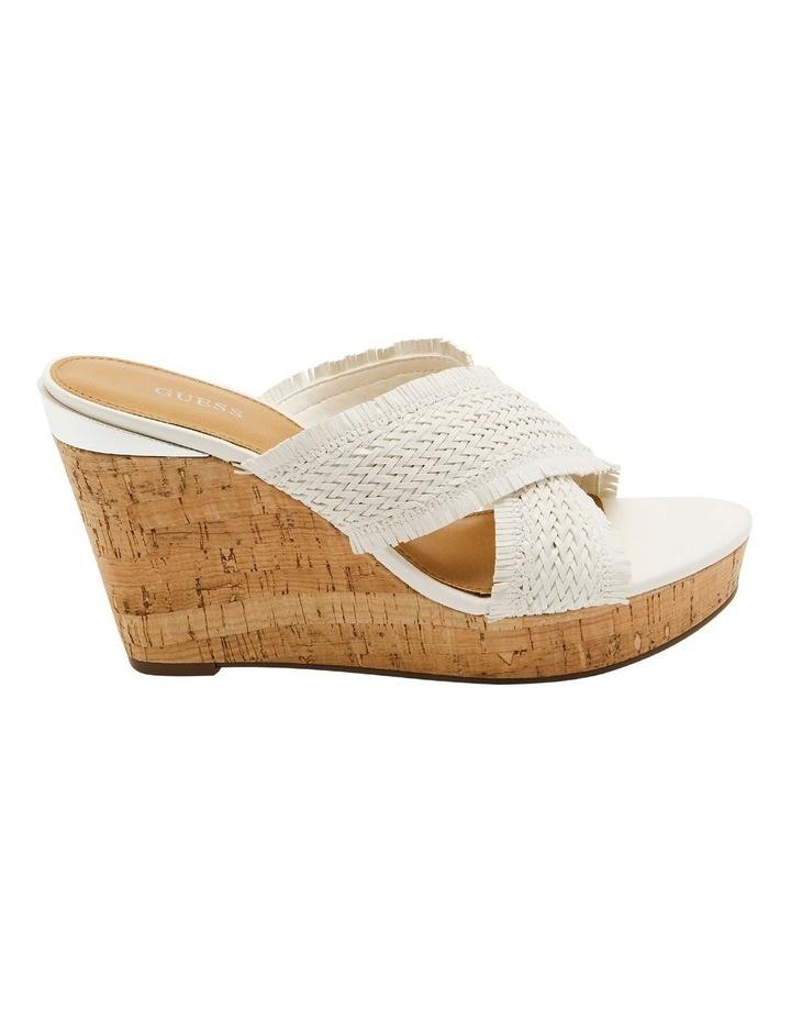 Bridle White Wedge Sandal image 1