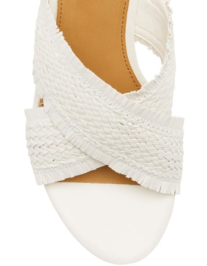 Bridle White Wedge Sandal image 2