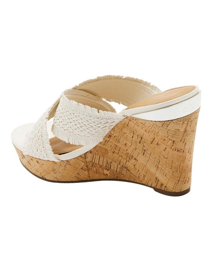 Bridle White Wedge Sandal image 3