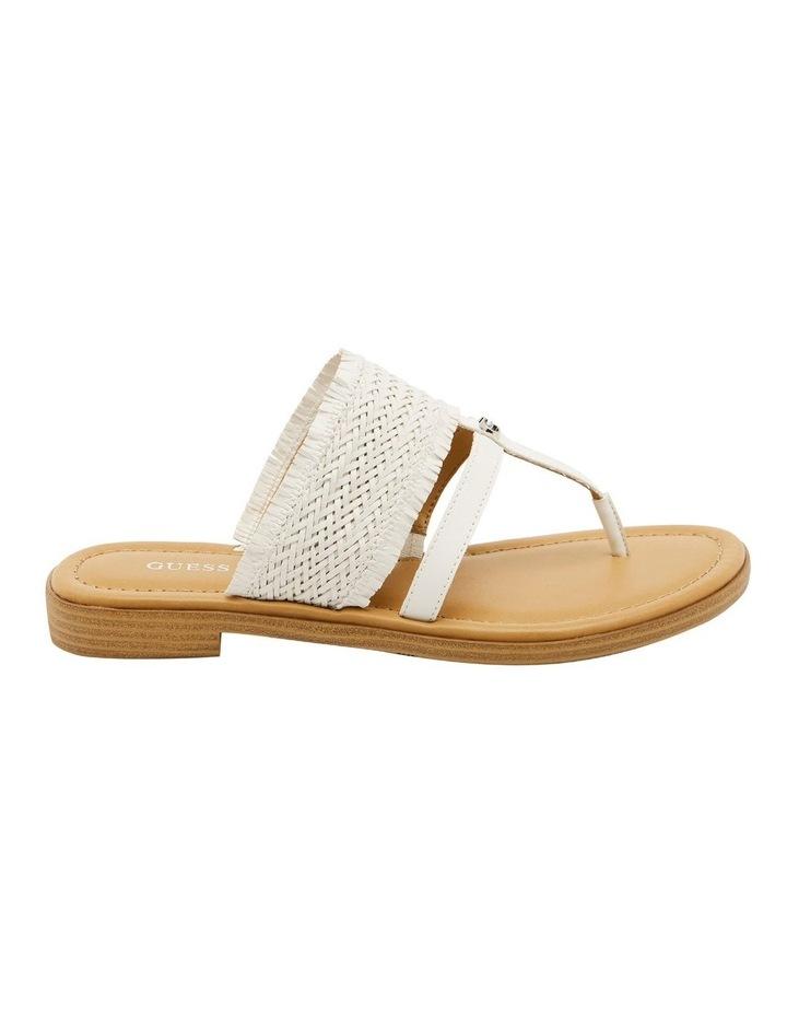 Geann White Flat Sandal image 1