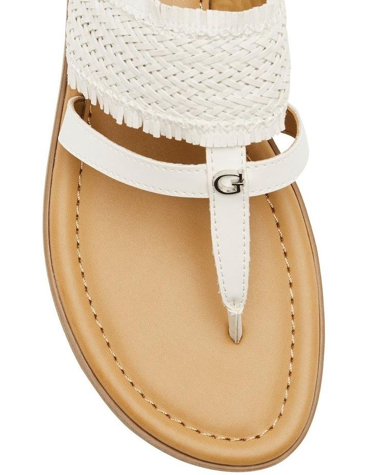 Geann White Flat Sandal image 2