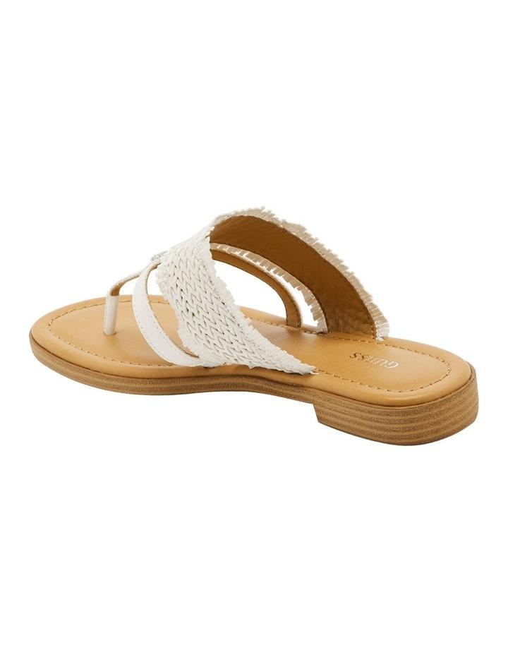 Geann White Flat Sandal image 3