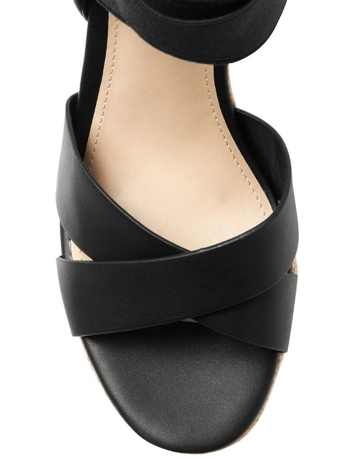 Teagan Black Wedge Sandal image 2