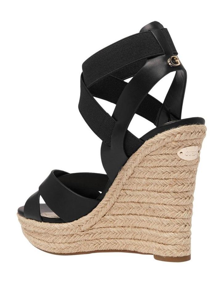 Teagan Black Wedge Sandal image 3