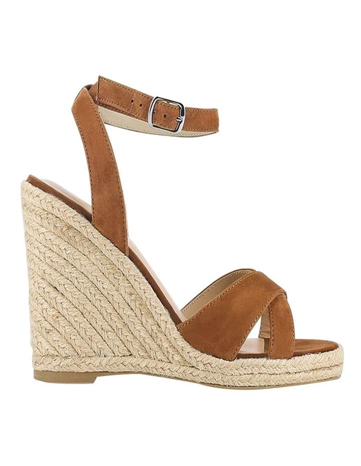 Sibel Camel Suede Wedge Sandal image 1