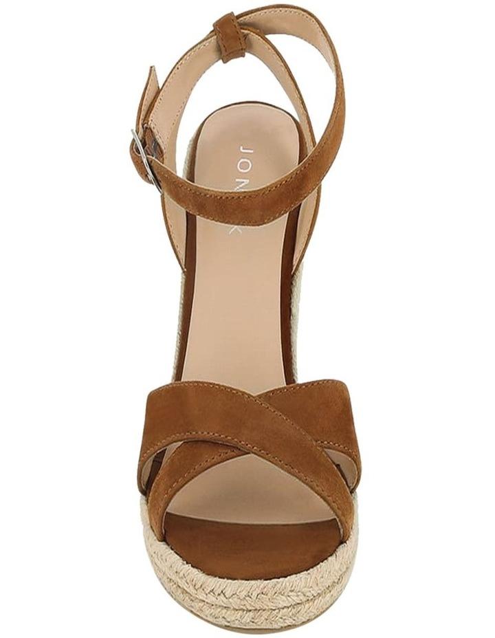 Sibel Camel Suede Wedge Sandal image 2