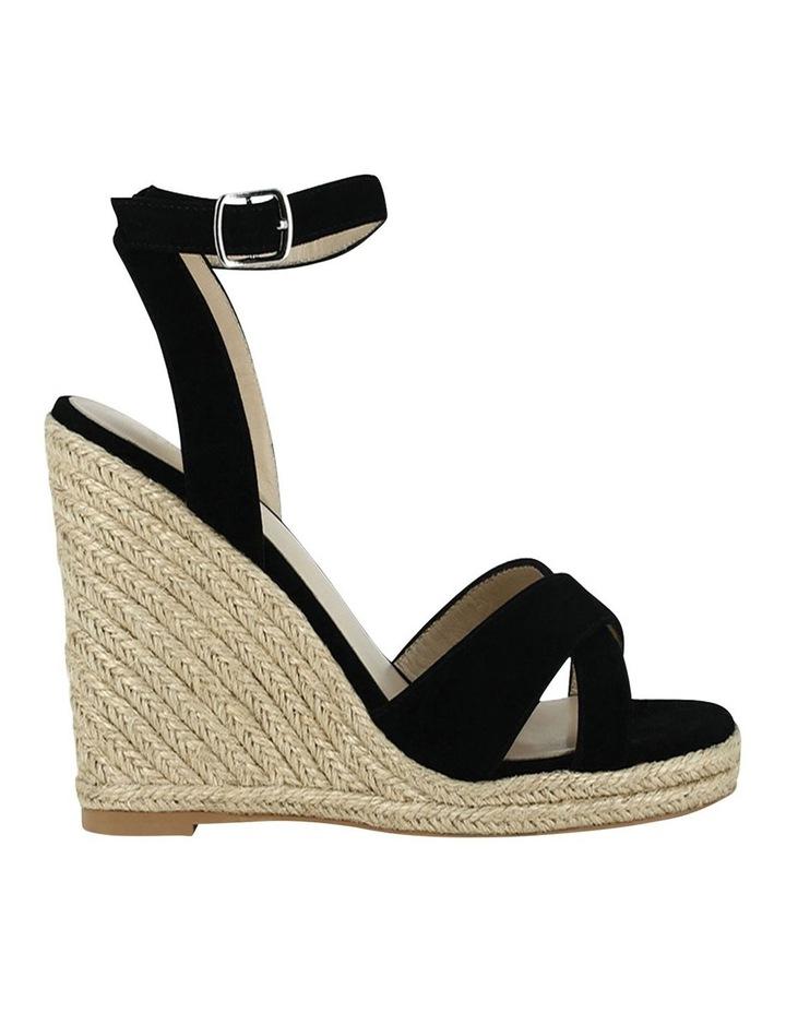 Sibel Black Suede Wedge Sandal image 1