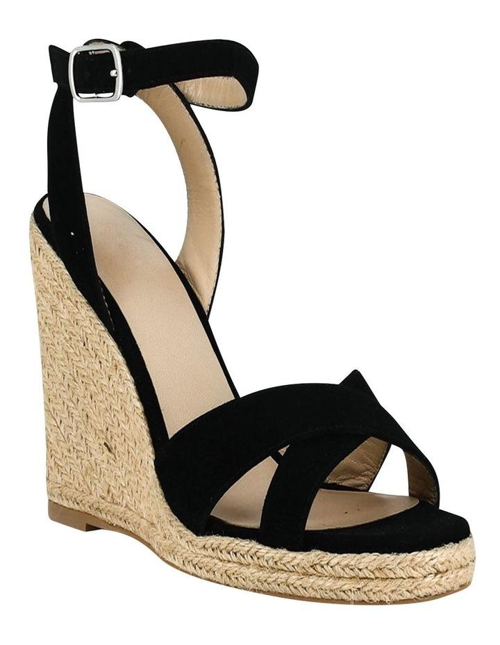 Sibel Black Suede Wedge Sandal image 2