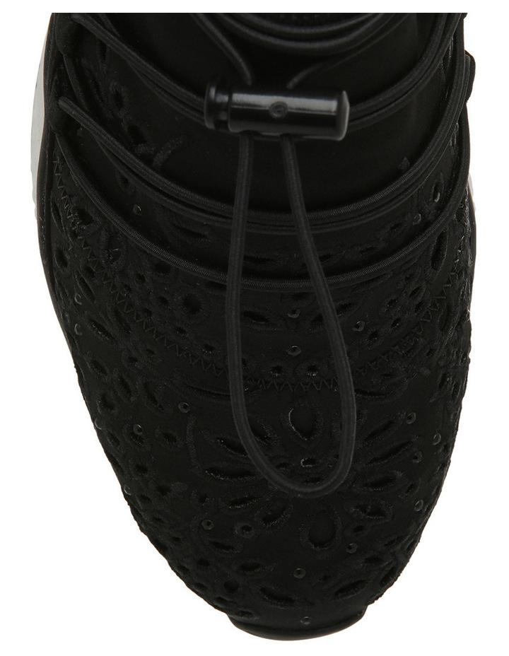 Miss Flora Stretch Satin Black Sneaker image 3