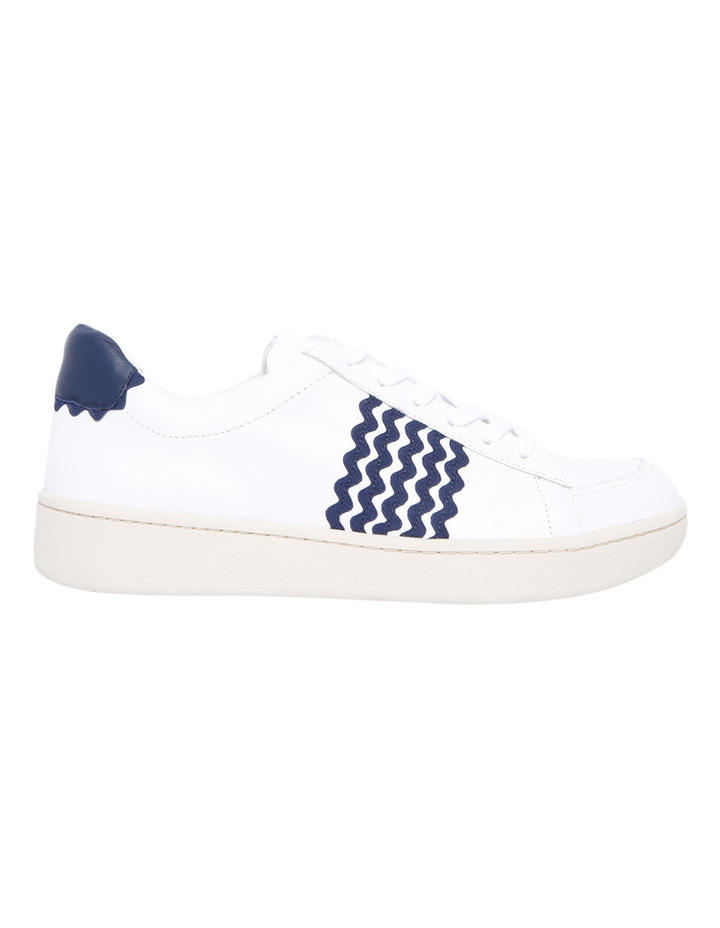 Elliot Lace Up Sneaker With Ric Rac White/Eclipse Sneaker image 1
