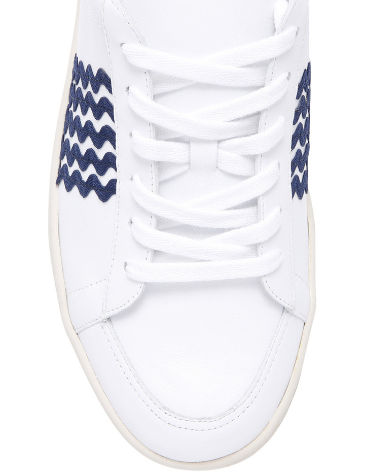Elliot Lace Up Sneaker With Ric Rac White/Eclipse Sneaker image 3