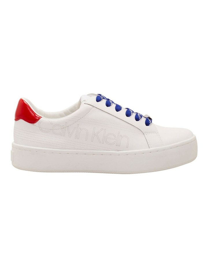 Clarine White/ Process Red Sneaker image 1