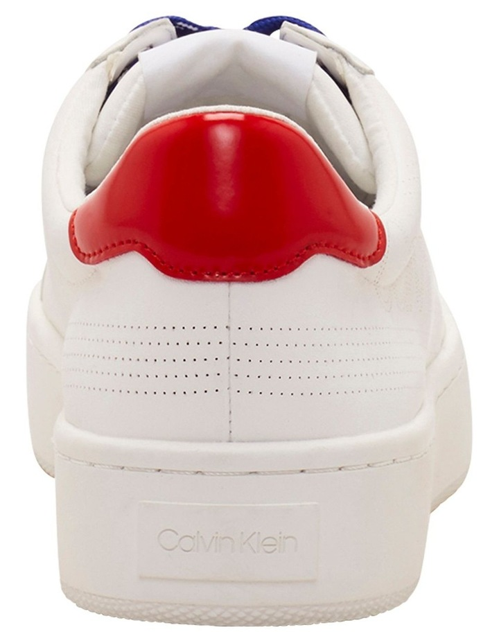 Clarine White/ Process Red Sneaker image 2