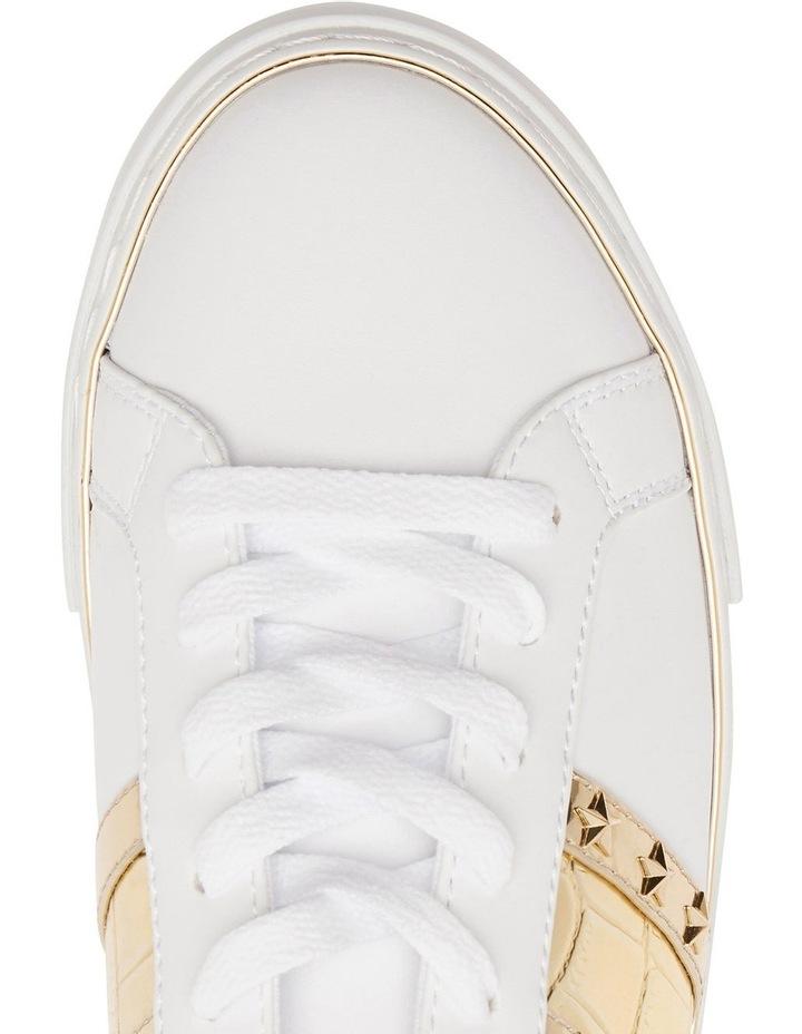 Grayzin White/Gold/Gold Sneaker image 2