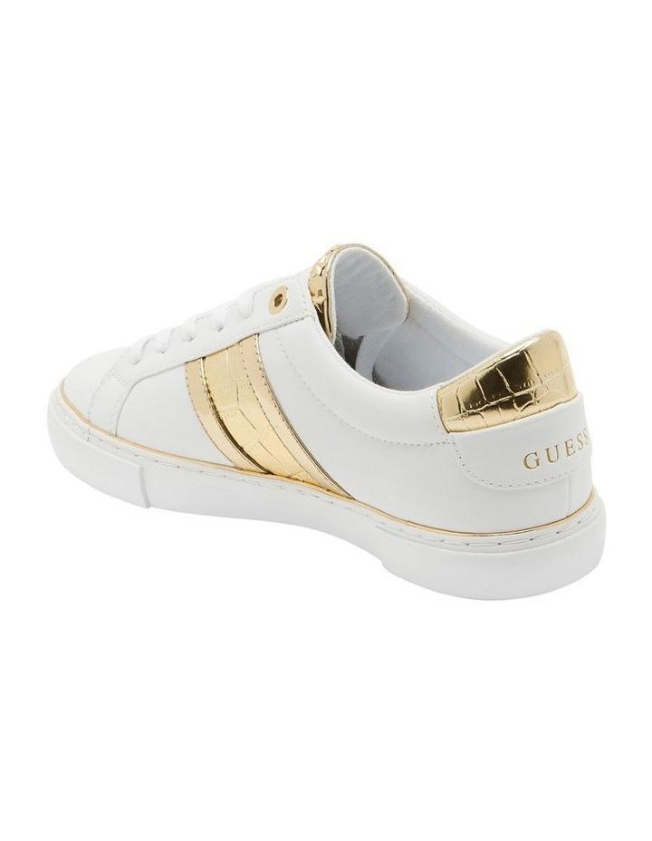 Grayzin White/Gold/Gold Sneaker image 3