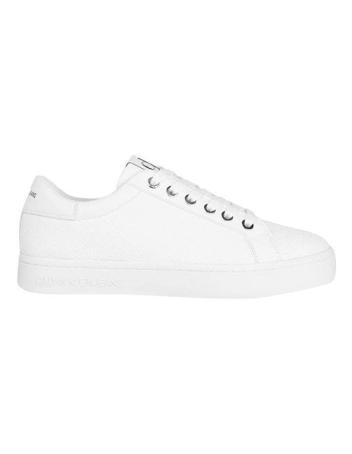 YW0YW00062YAF Embossed Faux Leather Sneakers image 1