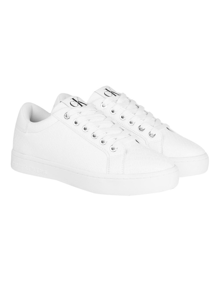 YW0YW00062YAF Embossed Faux Leather Sneakers image 2