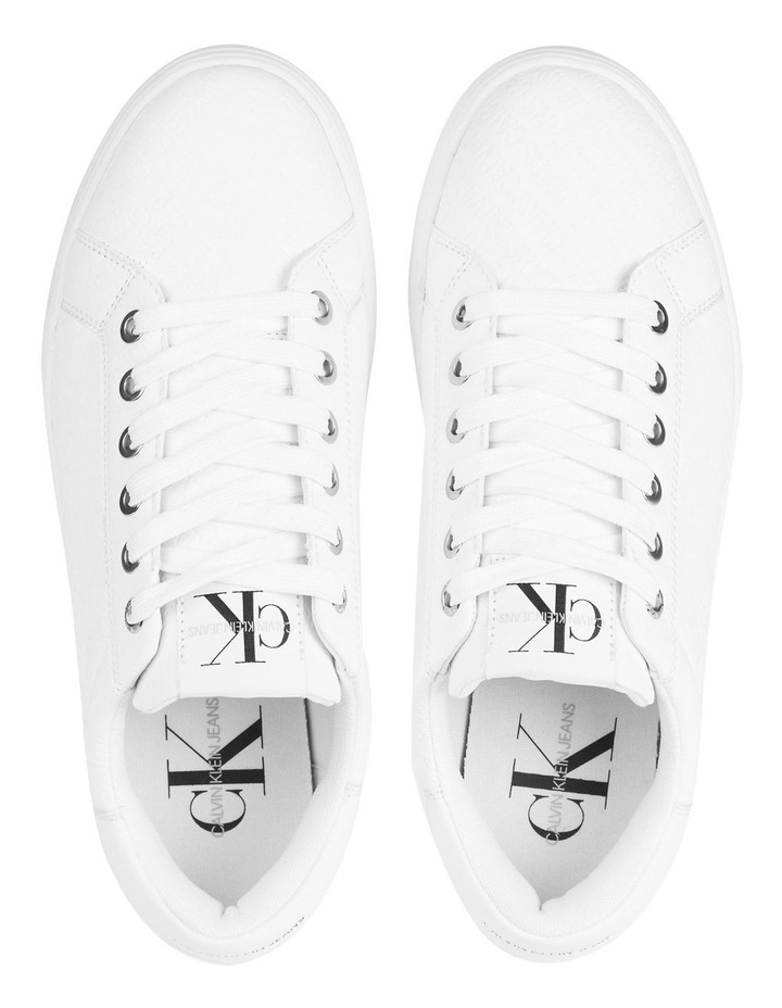 YW0YW00062YAF Embossed Faux Leather Sneakers image 3