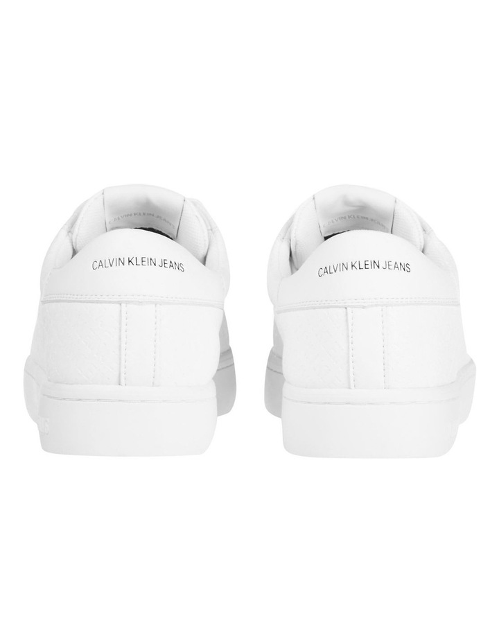 YW0YW00062YAF Embossed Faux Leather Sneakers image 4