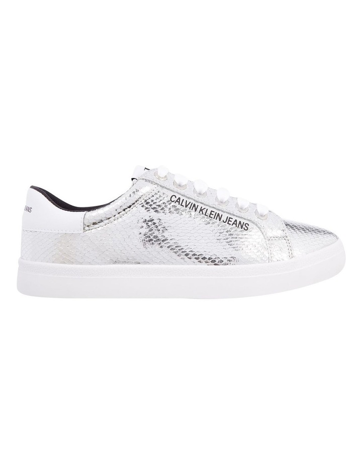 Python Silver Lace-Up Sneaker image 1