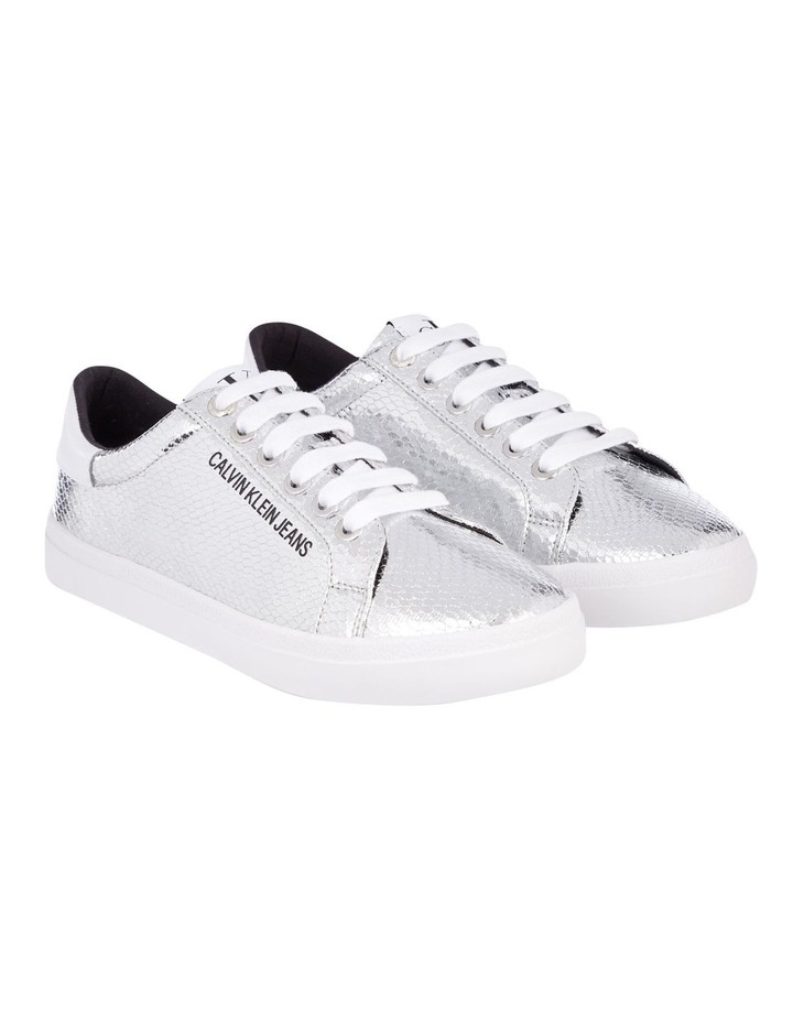 Python Silver Lace-Up Sneaker image 2
