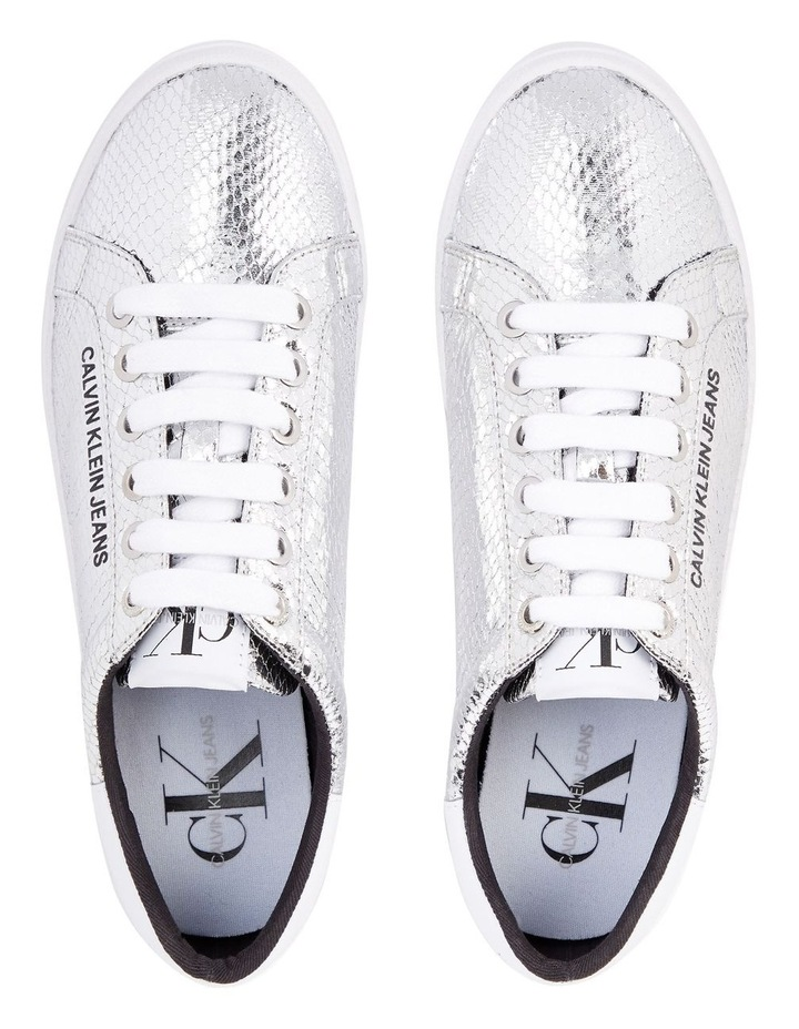 Python Silver Lace-Up Sneaker image 3