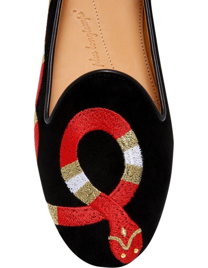 Snake Blk Slipper Black Loafer image 3