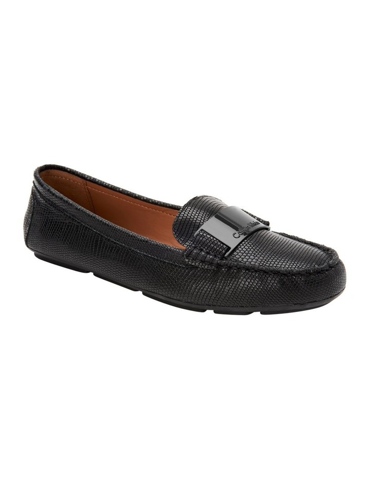 LISETTE BLACK SHINY LIZARD LOAFER image 1