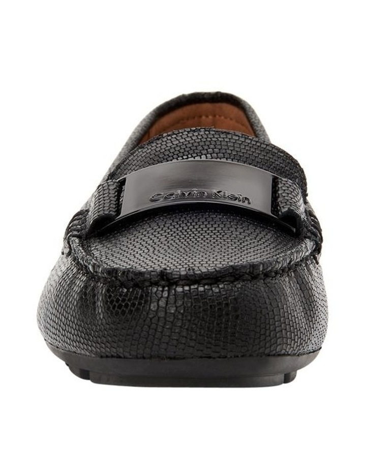 LISETTE BLACK SHINY LIZARD LOAFER image 3
