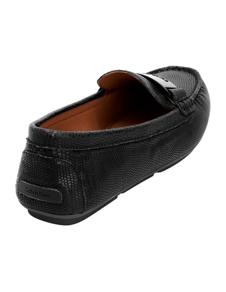LISETTE BLACK SHINY LIZARD LOAFER image 4