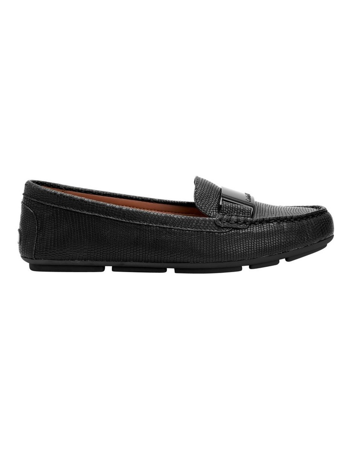 LISETTE BLACK SHINY LIZARD LOAFER image 5