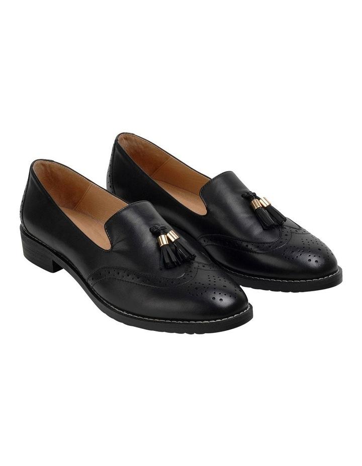 Sadler Black Flat Shoe image 2