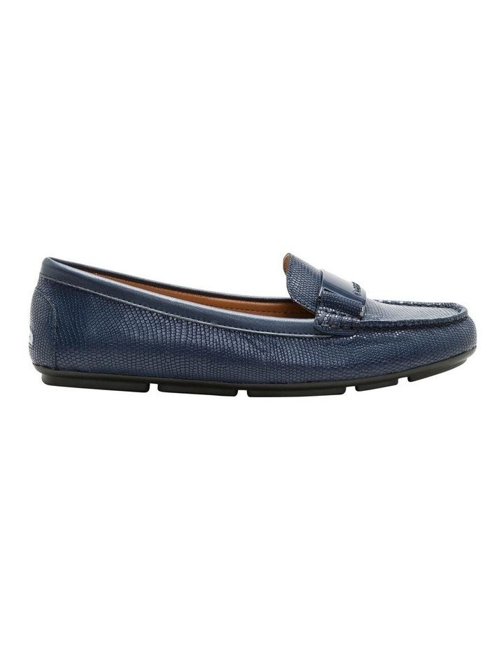 Lisette Navy Croc Flat Shoes image 1