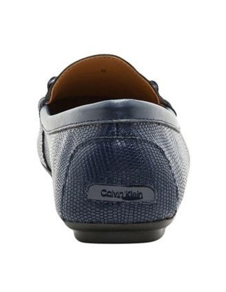 Lisette Navy Croc Flat Shoes image 2