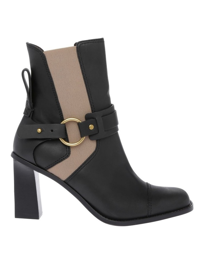 Black Calf with Nude Elastic Boot image 1