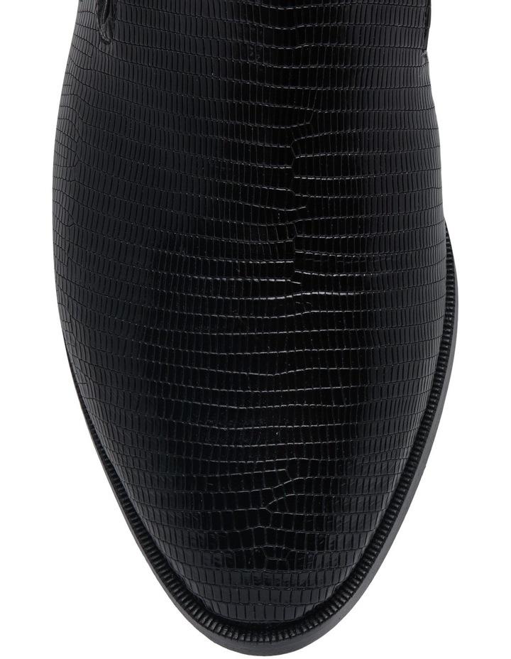 Alicio Black Leather Lizard Print Mule image 4