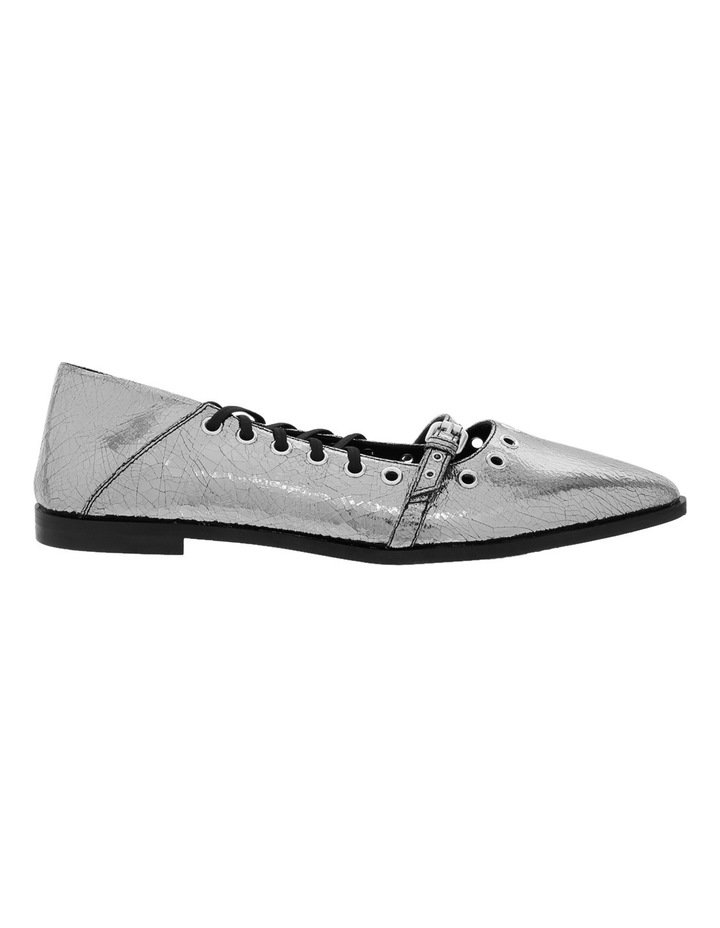 Darest Laced Flat Silver Pump image 1