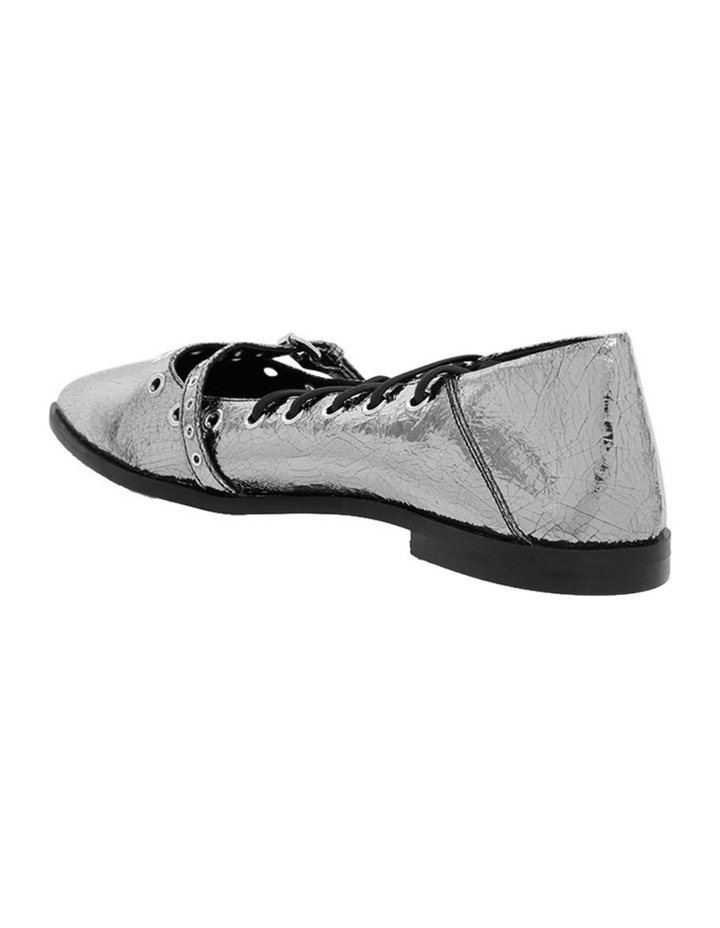 Darest Laced Flat Silver Pump image 2