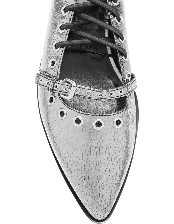 Darest Laced Flat Silver Pump image 3