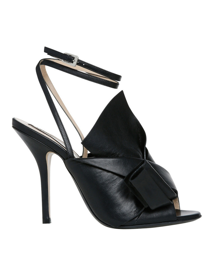 Nori Black Bow Stiletto Sandal image 1