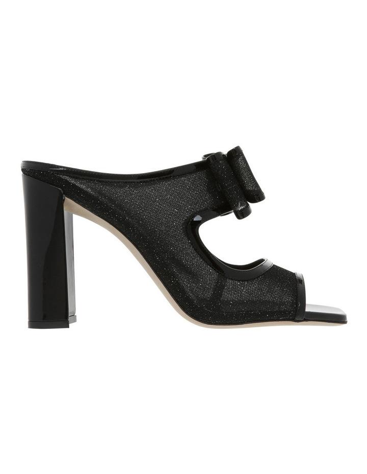 Black Glitter Mesh Sandal image 1