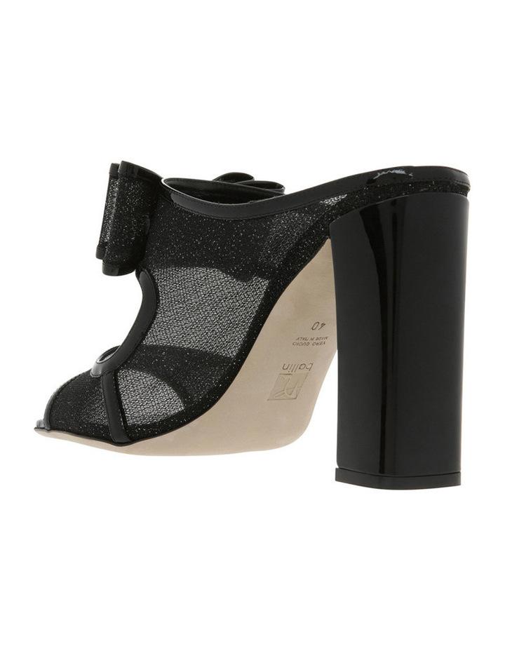 Black Glitter Mesh Sandal image 2