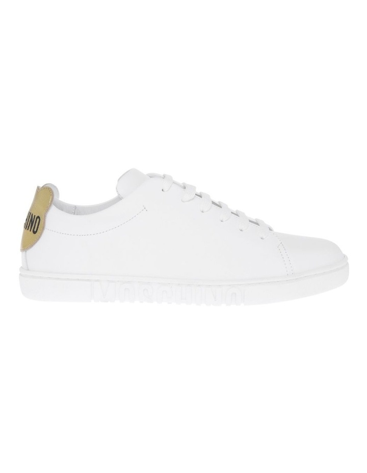 White With Gold Sneakers image 1